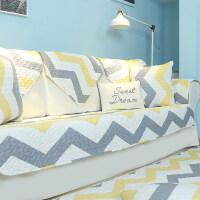 沙发垫布艺简约现代客厅四季通用真皮坐垫子防滑罩巾盖套定做