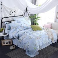 床上用品四件套棉棉1.8m2.0米1.5m单人被套床单磨毛