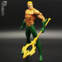 新52超人正义联盟海王潜水侠闪电侠玩具手办可动人偶模型公仔 DC