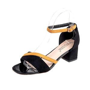 WARORWAR 2019新品YN9-2588夏季欧美粗跟鞋低跟鞋女鞋潮流时尚潮鞋百搭潮牌凉鞋 女