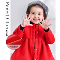 【爆品秒��r:59元】�U�P俱�凡客��b2020秋冬女童呢子大衣公主洋�庑⊥�保暖外套�和�