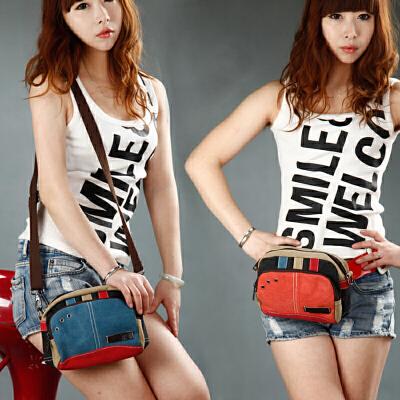帆布包女包新款潮单肩包斜挎包韩版时尚小包包腰包迷你女式小方包