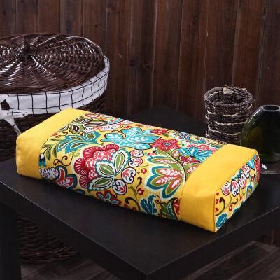 宫廷复古风立体荞麦枕荞麦皮枕头枕芯传统仿古枕单人枕可拆洗  宫廷复古风 荞麦枕 可拆洗