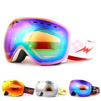 防雾男女滑雪眼镜大球面大视野单双板可卡近视雪镜