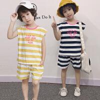 男童夏装新款套装夏季童装儿童帅气洋气无袖运动中小童两件套