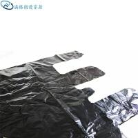 大号黑色手提背心式搬家袋大垃圾袋晒被子除螨虫塑料袋家用 10个 80x110cm
