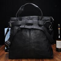 单肩包男包斜挎时尚休闲韩版手提包软旅行包大包潮PU男士包包