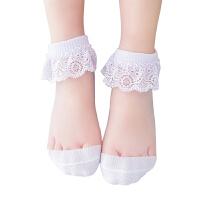 儿童水晶袜夏季薄款女童水晶冰丝袜宝宝公主蕾丝花边袜婴儿短袜子