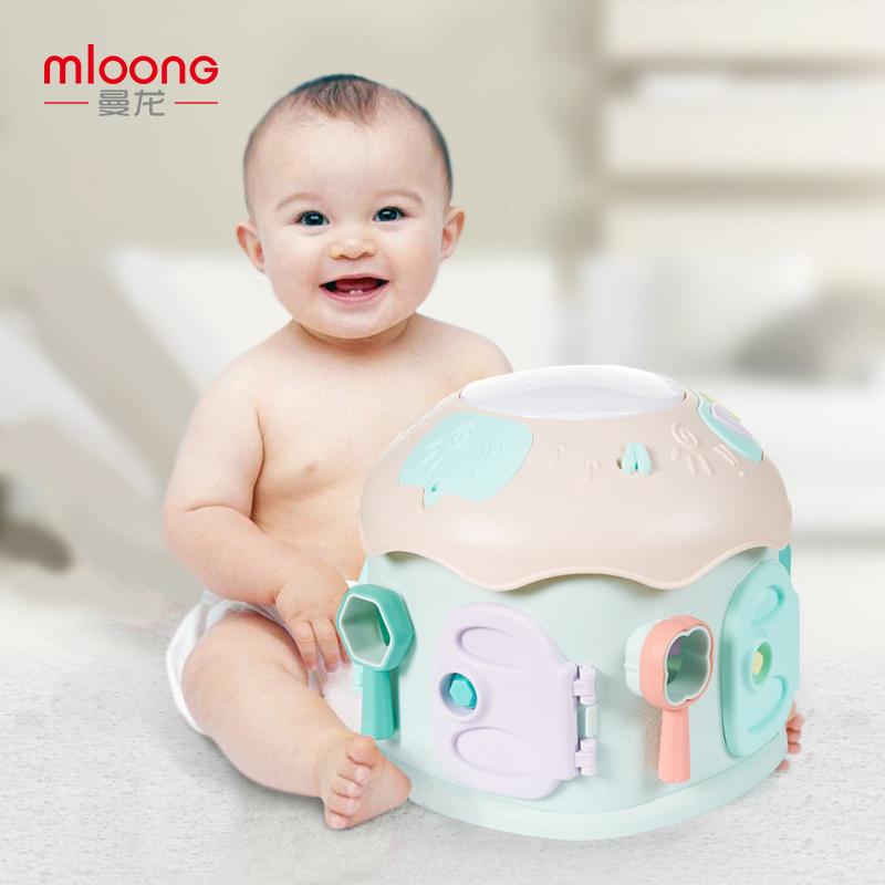 曼龙宝宝手拍鼓儿童音乐拍拍鼓婴儿玩具幼儿早教1岁0-6-9-12个月乐感激发 动脑思考 手眼协调