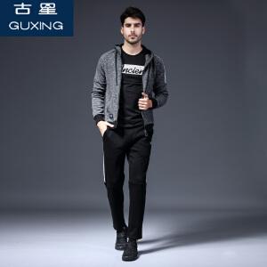 卫衣套装秋冬季男士休闲装韩版潮流连帽加绒冬装运动服外套两件套