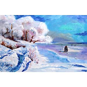 0530 俄罗斯美协会员  丘尔辛 《莫斯科冬季的郊外》