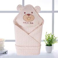 W 新生婴儿抱被用品满月包被子春秋冬厚款包巾初生宝宝彩棉抱毯B31