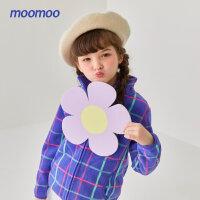 【1件4折价:63.6】moomoo童装女童外套秋冬装新款儿童摇粒绒外套女孩儿洋气保暖上衣