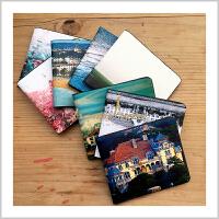 蒙马特大街艺术钱包油画钱包卡包超薄卡包票夹青岛特色礼品风景