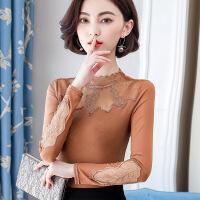 蕾丝打底衫女装长袖秋冬装2018新款时尚雪纺上衣秋季百搭洋气小衫