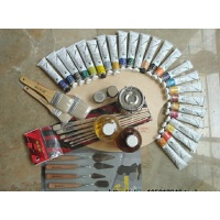 马利9件套 油画套装油画工具套装50ml和170ml 马利油画颜料24色套装 18色套装
