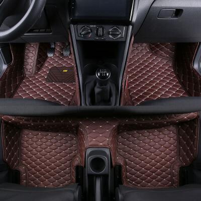 汽车脚垫大众polo脚垫全包围2018款新波罗polo两厢车专用皮革汽车脚垫高边