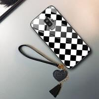 三星s9手机壳3星s9保护套sm-g9600玻璃g96oo日韩Samsungs9黑白色galaxys