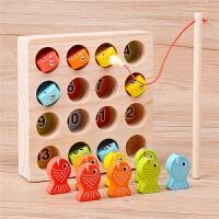 1--6周岁女男孩磁性一岁半宝宝玩具 儿童钓鱼玩具