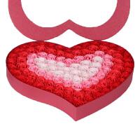 情人节99朵渐变色香皂花礼盒 礼物玫瑰花束 生日礼品