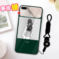 ins网红苹果x手机壳iPhone xs max玻璃8plus个性7plus全包xr时尚6splus 自带美妆镜【时尚