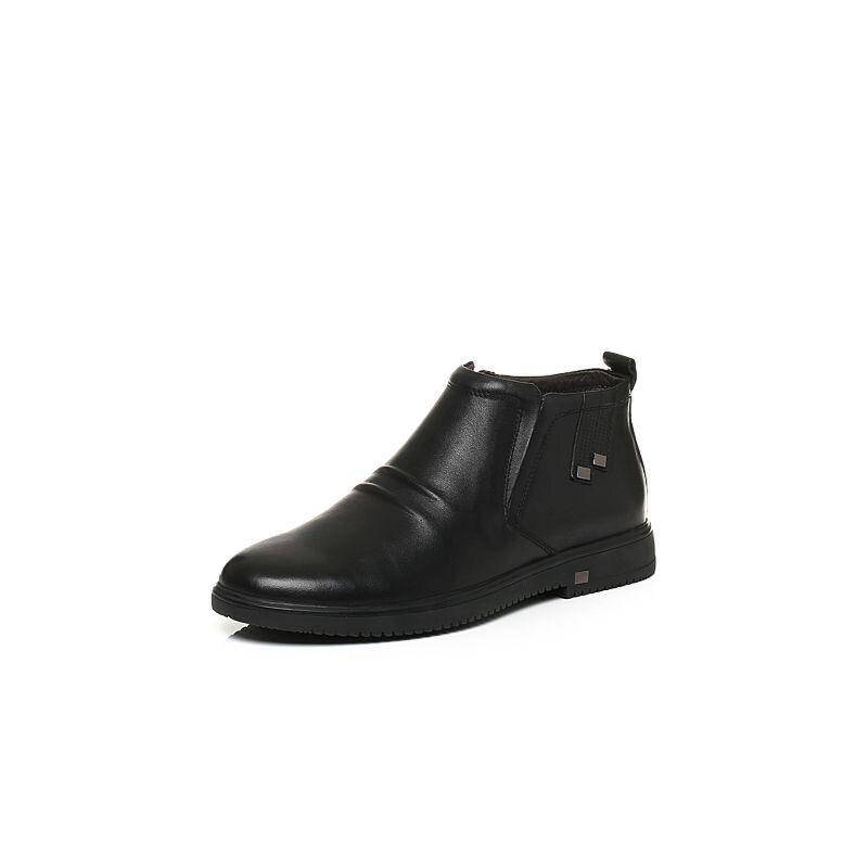 Belle/百丽冬季专柜同款牛皮革男休闲靴4PM02DD6