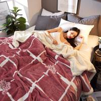 毛毯加厚保暖冬季单双人法兰绒羊羔绒珊瑚绒学生小盖毯子双面双层
