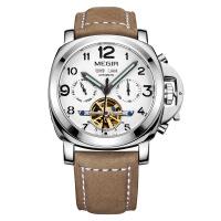 2018新款 美格尔MEGIR机械表男表镂空手表多功能防水男士手表3206