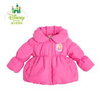 迪士尼Disney大衣加厚棉袄女童保暖棉外套秋冬164S859