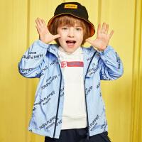 【2件5折:239元】暇步士童装女童风衣2020年春季新品宝宝连帽上衣洋气大童儿童外套