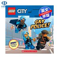英文原版 乐高城市贴纸书 Sky Police! (LEGO City: Storybook with Stickers