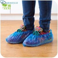 一次性防滑防水鞋套 加厚无纺布一次性鞋套100装 一次性鞋套