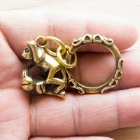 复古创意纯铜黄铜十二生肖猴子钥匙扣挂件吊坠饰品项链配饰小礼品
