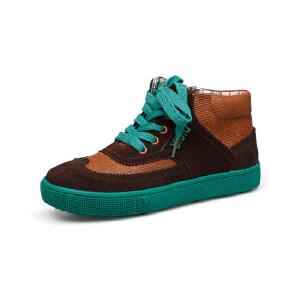 比比我2016春秋新款男童高帮休闲鞋帆布透气系带童鞋休闲鞋