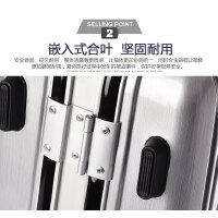 铝框行李箱万向轮26旅行箱男24密码登机皮箱子20寸玫瑰金拉杆箱女