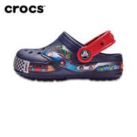 Crocs洞洞鞋 卡骆驰趣味学院卡骆班闪灯男女儿童沙滩鞋|204984