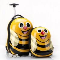 儿童拉杆箱宝宝旅行箱可爱行李箱小皮箱卡通蜜蜂瓢虫书包
