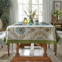 蜡笔派美式桌布布艺ins风欧式茶几垫台布中式桌垫金盏花餐桌布