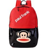简约户外休闲包大嘴精品时尚背包防水学生书包猴子双肩包 红色 背包