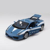 1:24兰博基尼跑车LP700速度与激情7仿真合金汽车模型 蓝色 兰博基尼盖拉多 警车093