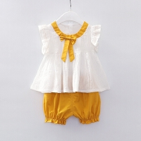 女童夏装套装韩版1一3岁5婴儿背心短裤夏女宝宝洋气套装
