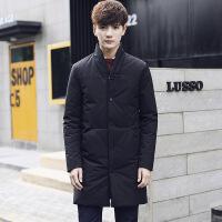 №【2019新款】穿着不跑毛的2018冬季新款羽绒服男中长款加厚修身韩版男士外套青年立领男装潮