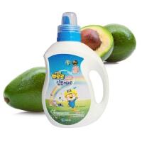 啵乐乐韩国进口洗衣液桶装中性清水天然植物1000ml