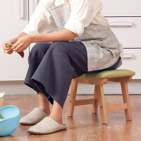 实木小凳子布艺家用矮凳时尚创意沙发凳小板凳客厅简约成人换鞋凳