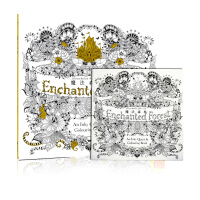 现货台版 秘密花园第二集Enchanted Forest魔法森林手绘涂鸦书