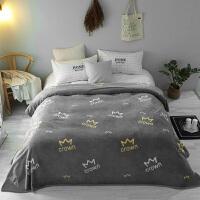 法兰绒毛毯加厚床单冬季单人学生宿舍铺床午睡毯珊瑚绒小毯子