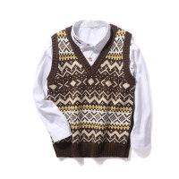 儿童毛衣背心春秋男童针织马甲毛衣中大童套头针织衫潮