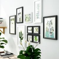 简约现代客厅组合创意装饰画餐厅玄关黑白个性墙画墙面挂墙挂画 139*77