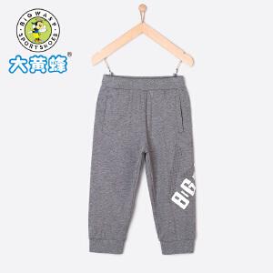 大黄蜂童装 男童裤子 2018新款夏季韩版休闲裤宽松小中大童运动裤