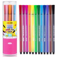 得力(deli) 7065 绚丽多彩可洗水彩笔/绘画笔 12色/筒 包装颜色随-机发
